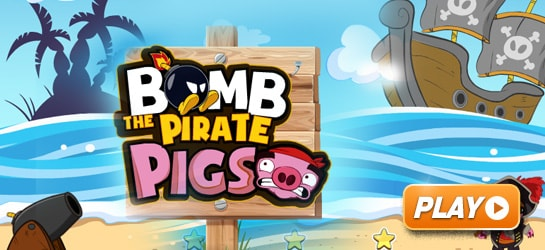 Bomb The Pirate Pigs