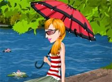 Girl on Lake Game - Girls Games